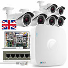 6x Full HD 1080P IP Camera 8 CH NVR PoE Professional P2P QR CCTV Kit UK OE86EB0
