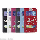 6 Colors Double View Window+Bling Crystal Flip Case Cover for Samsung Galaxy S5