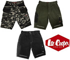 Mens Lee Cooper Cargo Shorts Mobile Pocket Work Casual Black LC806 Size 30-42