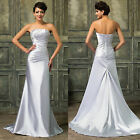 PLUS SIZE LONG Prom Dresses Mother of the Bride Evening Party Wedding Ball Gown