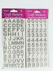 Alphabet Capital Letters Numbers Self Adhesive Stickers 1.5cm Gem Stones Silver