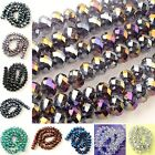 1 Strand  Multi-color Faceted Crystal Glass Rondelle Loose Beads Findings DIY