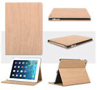 Retro Wood Grain Magnetic Flip Stand Sleep Case Cover For Apple iPad mini 1 2 3
