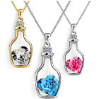 New Chain Crystal Choker Women Jewelry Drift Bottles Crystal Pendant Necklace