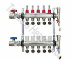 5-Branch PEX Manifold Radiant Floor Heating Set Stainless Steel with Connectors