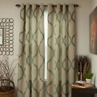 Lavish Home Metallic Grommet Curtain Panels 84 inch One Pair