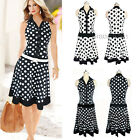 Women's summer Vintage Style Pinup Rockabilly Swing Housewife Casual Dress S-2XL