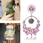 Fashion Womens Crystal Rose Flower Charm Ear Clip Cuff Earring Stud Jewelry Gift