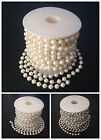 10m 8mm Ivory Acrylic Pearls Beaded Garlands For Wedding Xmas Tree Decoration