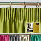 Thermal Blackout / Blockout Lining Pair of Curtains Pencil Pleat Tape Top
