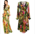 Women's Boho Hippie Sexy Summer Evening/Cocktail/Party Sundress Long Maxi Dress