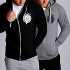 New Mens GRIND 2 GREATNESS thick Fleece Long sleeve gym casual Hoody