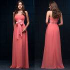 Strapless Bridesmaid Masquerade Evening Prom Party Dresses Ball Gowns PLUS SIZE