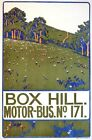 Early 20th Century Box Hill Surrey Bus Poster A3 Print