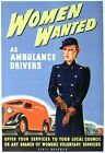 World War Two Women Ambulance Drivers Recruitment  Poster A3 Print
