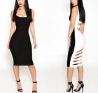 Hot Womens Sleeveless Bodycon skirt Hollow Evening Party Mini Dress Cocktail