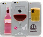 New 3D Red Wine Glass Beer Cocktail Moving Liquid Case For iPhone5 6 6PLus