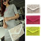 Womens Envelope Clutch Chain Foil Floral Purse Lady Handbag Shoulder Evening Bag