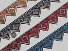 "3 Yd Jacquard Trim 1.50"" wide Woven Border Sew Embroidered Ribbon Lace T906"