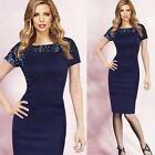 Fashion Women Glitter Sequins Bodycon Cocktail Party Evening Pencil Slim Dress