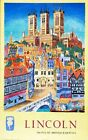 Vintage British Rail Lincoln Cathedral Railway Poster A3 Print