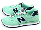 New Balance WL574HRI B Light Green & Navy & White Lifestyle Retro Casual 2015 NB