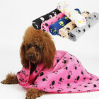 Lovely Paw Print Soft Warm Fleece Pet Blanket Dog Cat Mat Puppy Bed Sofa 60*70cm