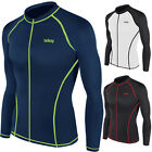 New Surf Summer Beach Full Zip-up Rash Guard Men Long Sleeve Top