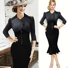 2015 Womens Formal Rockabilly Pinup DRESS Slim Fit Business Work Pencil Dresses