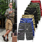 Men Casual Army Cargo Combat Camo Camouflage Overall Shorts Sports Pants
