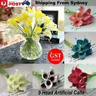 NEW 9 Head Artificial Calla Lily Bridal Wedding Bouquet Latex Flower Bouquets De
