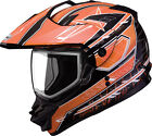 GMAX GM11S NOVA Snow Sport Snowmobile Helmet (Black/Orange/White) Choose Size