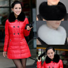Popular Warm Winter Chram Imitation Fox Fur Black White Collar Scarf Shawl Wrap
