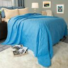 Solid Color Quilted Lightweight Blanket Comforter Choice of Color King