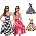 CHARM~ Rockabilly Vintage Style 60s Housewife Swing FULL CIRLE Party Swing Dress