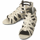 New Beige Gladiator Roman Casual Womens Sandals