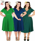 LADY VINTAGE VOLUPTUOUS LYRA DRESS  Size UK 16 to UK 22/24