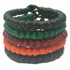 Fair Trade Knotted Wax Cord Buddhist Wristband Classic Handcrafted Wristwear