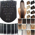 Real Long 8 piece Full Head Clip in Hair Extensions straight curly thick hair