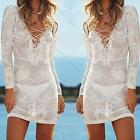 Boho New Sexy Honeymoon Beach White Swimsuit Cover Up Dress Bikini Tunic Kaftan