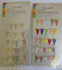 Mini Craft Bunting Flags on String Embellishments Brights or Pastels