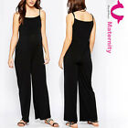 May&May Women's Maternity Wide Cut Leg Pinafore Jumpsuit Playsuit Pants