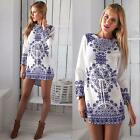 Womens Porcelain Summer Dress Short Mini Party Evening Prom Clubwear Dresses
