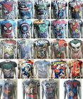 Mens Official Marvel & DC Comics Superhero  T shirt The Avengers Assemble