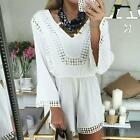 Summer Women V-neck Slim Sexy Lace Party Beach Short Pants Jumpsuits Rompers LJ