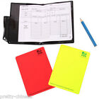 1/2/4 Set Universal Referee Cards Red/Yellow Sport Wallet Notebook Pencil Soccer
