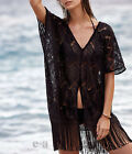 Hot Womens Boho Lace Tassel Long Cardigan Coat Jacket Loose Kimono Shirt Top