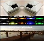 Solar Post Cap Deck Fence Color LED Lights 5x5 or 6x6 White Colored 10 Pack