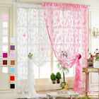 Ring Top Fully Lined Butterfly Printing Curtains Red Black Silver Blue 12 Colors