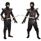 Leather Ninja Fighter Japanese Martial Arts Costume Halloween Fancy Dress